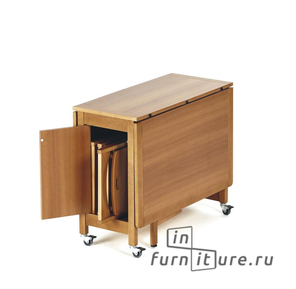 Раскладной стол - универсальное решение для кухни-столовой.